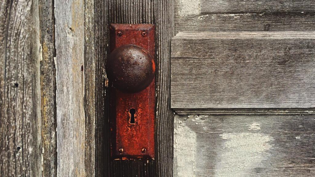 Rusted Broken Door Locks