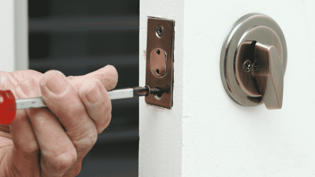 installing faceplate on how to install a deadbolt lock